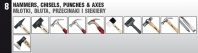 Hammers,Chisels,Punches & Axes